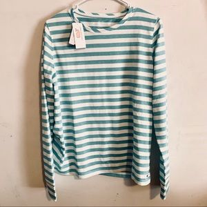 Vineyard vines performance striped long sleeve